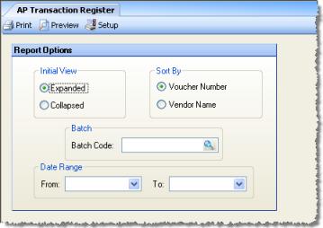 ap transaction register